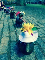 Make Way for Ducklings sculpture in Pulic Garden