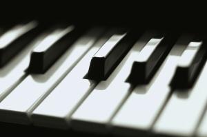 Keyboard Keys Close Up Piano Keys