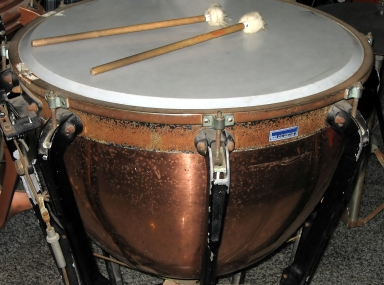 also called Timpani, with two mallets